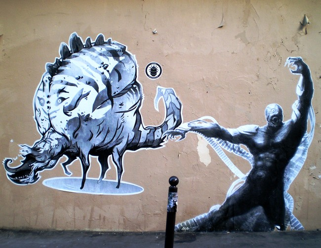 Street Art Par Duster, Jsm - Paris (France)