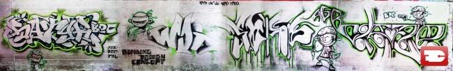 Fresques Par Kabo, Soap, Wui, Satyr, Cat - Caen (France)