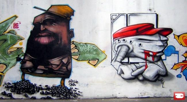 Personnages Par Dran, Fesko - Lyon (France)
