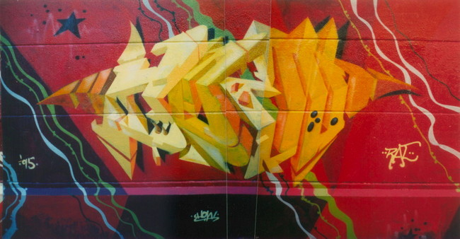 Nosm graffiti piece 3D style