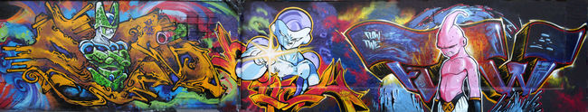 Fresques Par Flow, Deza, Nitch - Bayonne (France)
