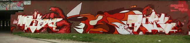 Fresques Par Sozy, Dems - Bruxelles (Belgique)