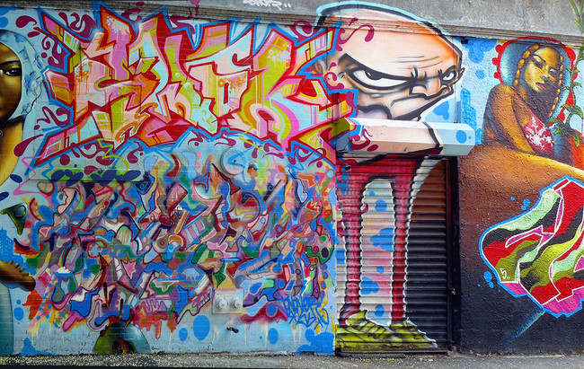 ewok and jonone graffiti