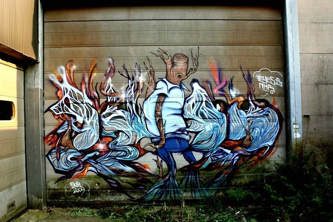 Big Walls By Eyes-b - Doel (Belgium)