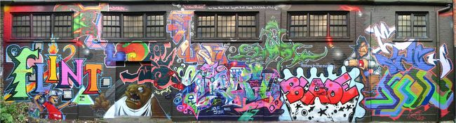 Fresques Par Busk, Tracy 168, Flint, Blade, Pulse1, Etch - Londres (Royaume Uni)