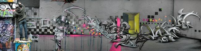 Fresques Par Caligr, Djalouz, Septik - Paris (France)