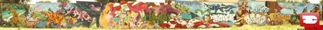 Fresques Par Suoz, Satyr, Sueno, Mel, Kalouf, 2rode, Dane - Niort (France)