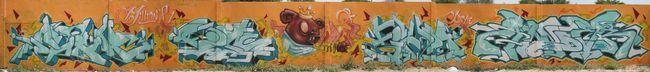 Fresques Par Rage, Mutha, Kew, Finda, Dino - Lerida (Espagne)