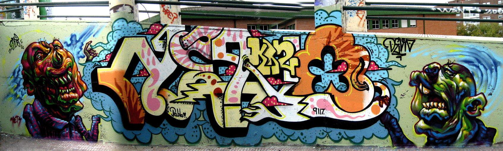 Piece By Beto, Deno - Madrid (Spain) - Street-art and Graffiti ...