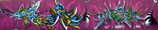Fresques Par Skeum, Ryda, Deso - Montpellier (France)
