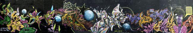 Fresques Par Xerou, Skeum, Ryda, Deso, Sweo, Ucso, Syne, Skiz 2, Sckaro - Beziers (France)