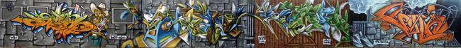 Fresques Par Dos, Skeum, Ryda, Deso, Sweo, Sonk - St.-Cyprien (France)