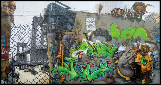 Fresques Par Lime, Bom.k, Subtil, Sowat, Kan, Gris, Brusk, Jaw - Paris (France)