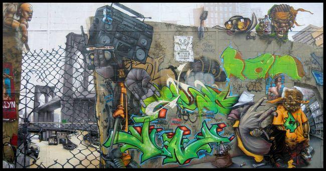 Fresques Par Lime, Bom.k, Subtil, Sowat, Kan, Gris, Brusk, Jaw - Paris (France)
