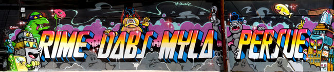 Street Art Par Rime, Persue, Dabs, Myla - San Diego (CA)