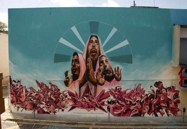 Fresques Par Nosm, How, Belin, Otes, Rek  - San Juan (Porto Rico)
