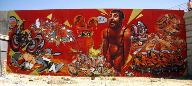 Fresques Par Lahe, Belin, Dater, Myrhwam - Saragosse (Espagne)
