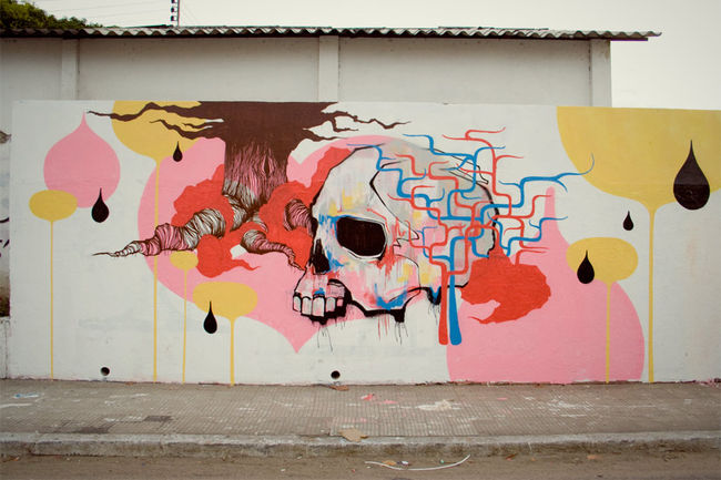 Street Art Par Blo - Fortaleza (Bresil)