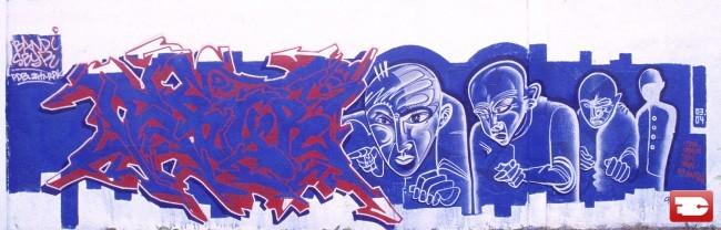 Fresques Par Bandi, Sbyr, Choll - Lausanne (Suisse)