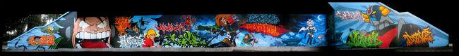 Fresques Par Dane, Rock, Golf , Lame , Yulk, Wira, Sake One, Lois, Asfen, Bonar, Cosla, Neik, Yasone - Bruxelles (Belgique)
