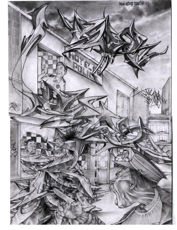 sketch par amer1 angouleme france street art et graffiti fatcap. Black Bedroom Furniture Sets. Home Design Ideas