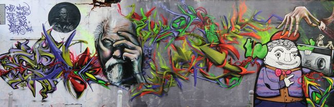 Big Walls By Defco, Toux, Rash, Twine - Paris (France)