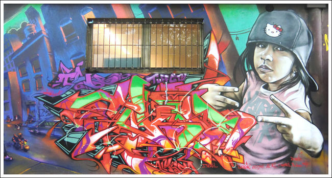 Fresques Par T-kid, Alex 1 - Bagnolet (France)