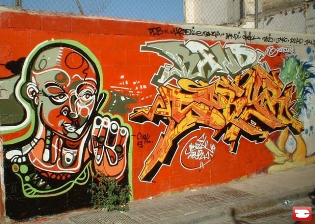 Fresques Par Bandi, Sbyr, Choll - Barcelone (Espagne)
