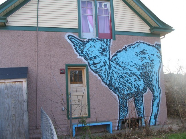 Street Art Par Broken Crow - Minneapolis (MN)